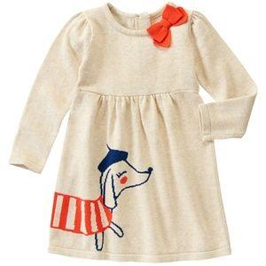 Gymboree Parisian Pup Sweater Dress